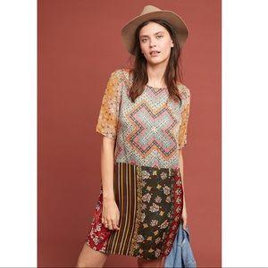 Anthropologie Patchwork Tunic Dress